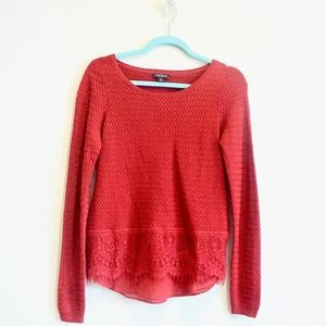 NWOT Lucky Brand red sweater